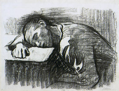 Home Worker, Asleep at the Table