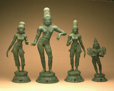 Krishna with His Wives and Garuda