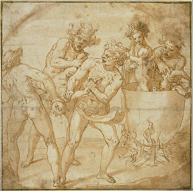 The Infant Bacchus Killed by the Titans and Restored to Life by Rhea