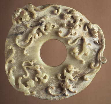 Perforated Disk (Bi) with Dragons