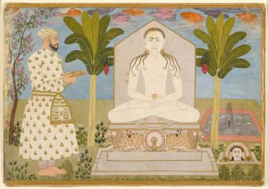 Rai Sabha Chand at a Jain Shrine