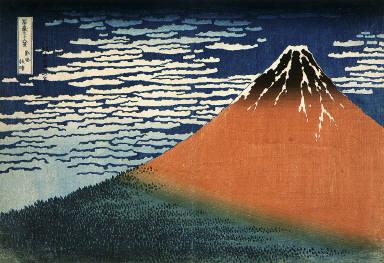[South Wind, Clear Dawn, Thirty-six Views of Mt. Fuji]