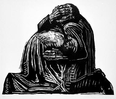 [The parents, Seven woodcuts on the war, Die Eltern, Sieben Holzlschnitte zum Krieg, plate 3]