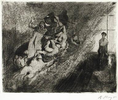 [After the Barque of Dante by Delacroix, Ganymed-Mappe I, plate 1, Nach der Dante Barke Delacroix']