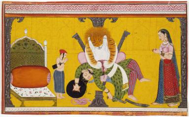 Narasimha, Avatar of Vishnu, Destroying Hiranyakasipu