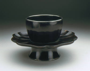 Cup Stand (Tuozhan) in the Form of a Lotus Blossom