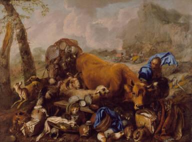 Noah's Sacrifice after the Deluge