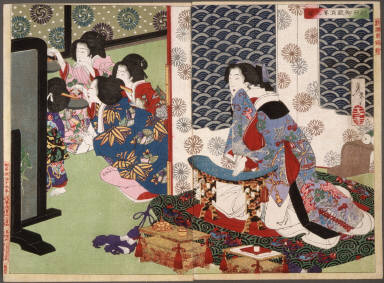 [A Banquet at the Koshida Palace, A New Selection of Eastern Brocade Pictures]