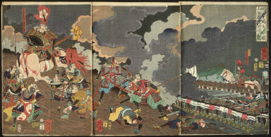 The Death of Yamamoto Dosan at the Great Battle of Kawanakajima