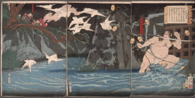 [Torii Suneemon Katsutaka, Eight Views with Fine Tales of Warriors]