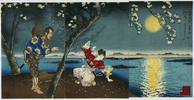 [The Ancient Incident of Umewaka and the Child Seller beside the Sumida River, Famous Places in the East]