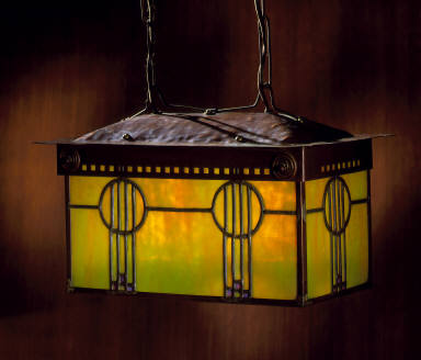 Hanging Lantern from the Roycroft Chapel, East Aurora, New York