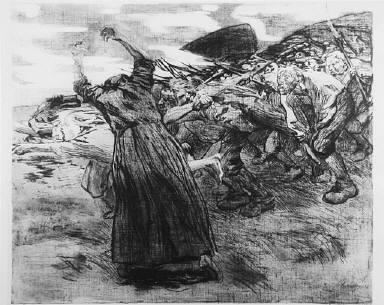 [Breaking away, Bauernkrieg, plate 5, Losbruch]