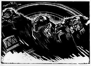 [The volunteers, Plate 2 of the portfolio Sieben Holzlschnitte zum Krieg, Die Freiwilligen, Plate 2 of the portfolio Seven woodcuts on the war]