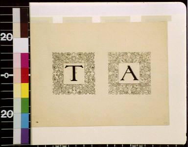 Letter T, letter A