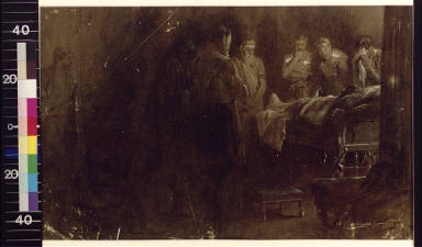 The dying Alexander receiving his soldiers