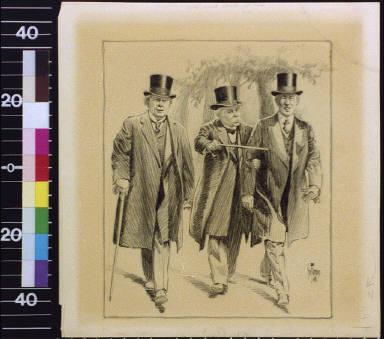 Lloyd George, Georges Clemenceau, and Woodrow Wilson