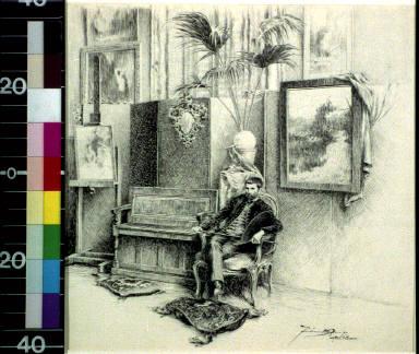 Dagnan-Bouveret in his studio