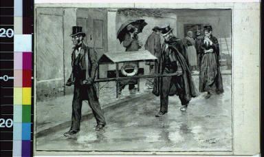 Funeral of a little waif, Paris