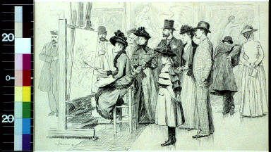 The copyist in the Louvre