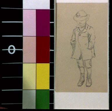 Toby Tyler in hat and coat