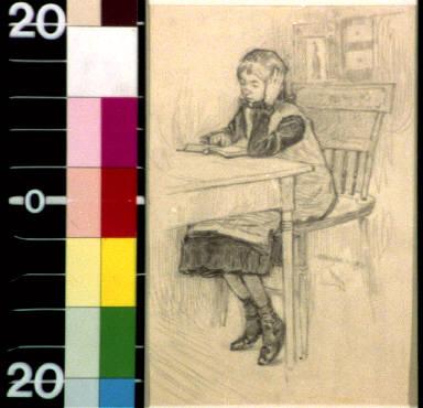 Mary Jane as a Sunday school scholar