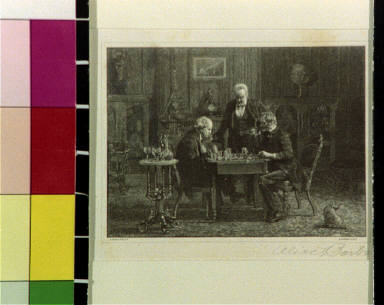 The chess players, after painting by Thomas Eakins