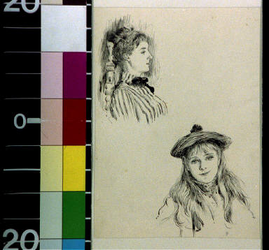 Faces of a woman and a girl