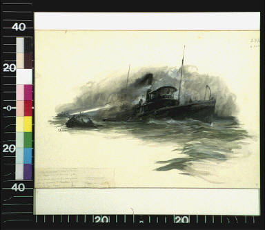 A black column of smoke poured from the funnel of the Dauntless, and the race for life began