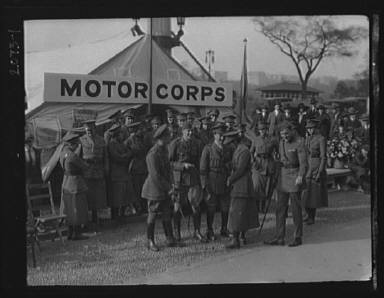 Motor Corps, with Major Bastedo