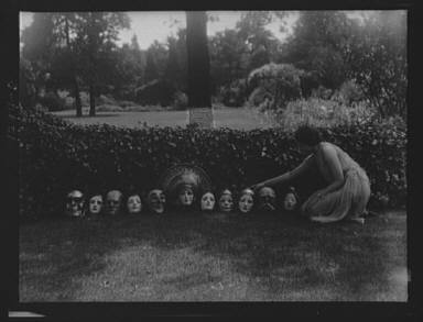 Display of masks made by W.T. Benda