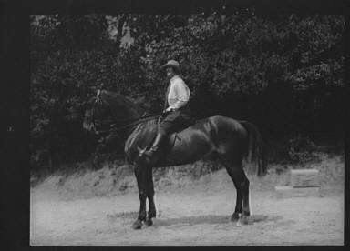 McCulloch, Mrs., on horseback