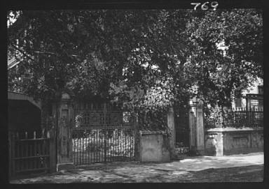 Wrought iron gate and fence, New Orleans or Charleston, South Carolina
