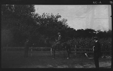 Ricker, Mr., on horseback