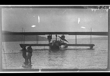 Seaplane in the water