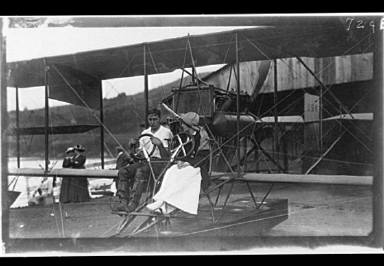 People seated in a plane