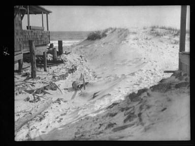 View near Arnold Genthe's bungalow in Long Beach, New York