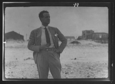 Unidentified man at Long Beach, New York