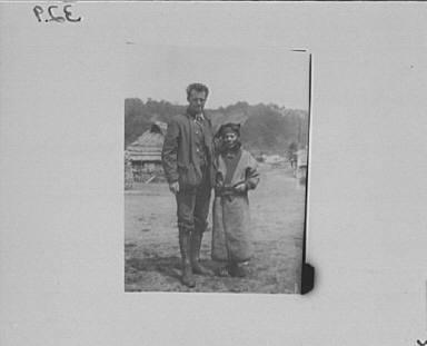 Arnold Genthe and an Ainu woman