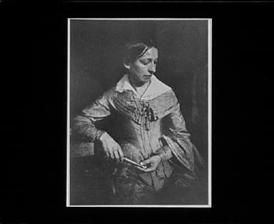Portrait photograph of Miss Elizabeth Rigby