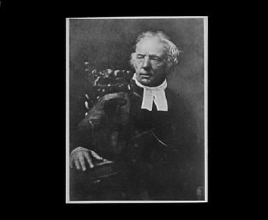 Portrait photograph of Reverend Thomas Chalmers