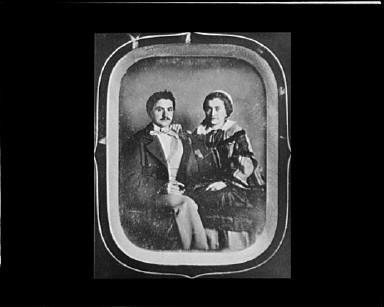 Portrait photograph of an unidentified couple