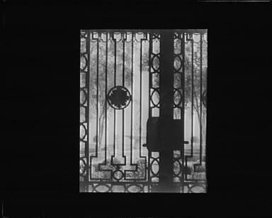 Entrance to house at Kijkuit, John D. Rockefeller's estate