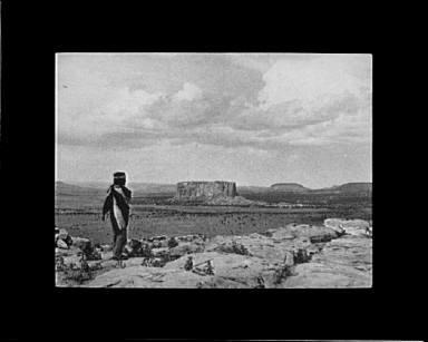 Looking from Acoma toward the Enchanted Mesa