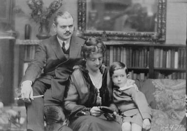 Norris, Charles G., Mr. and Mrs., and son, portrait photograph
