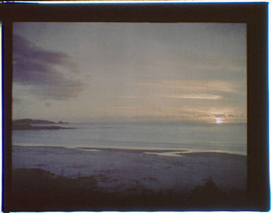 Sunset over the water in the Carmel, California area