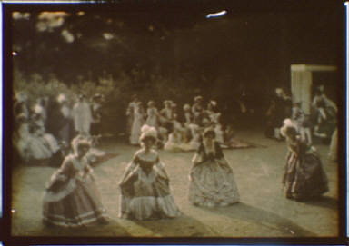 Outdoor activity with people dressed in eighteenth-century costumes
