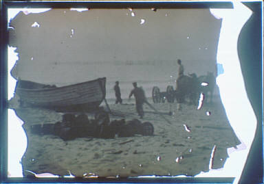 Beach scene with boat