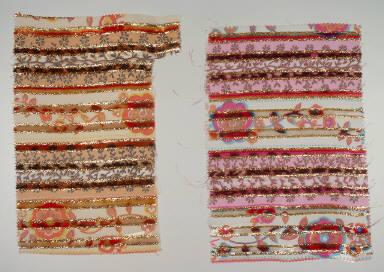 Pair of velvet panels