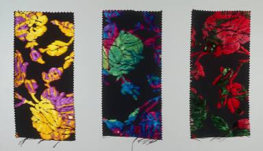Three velvet panels